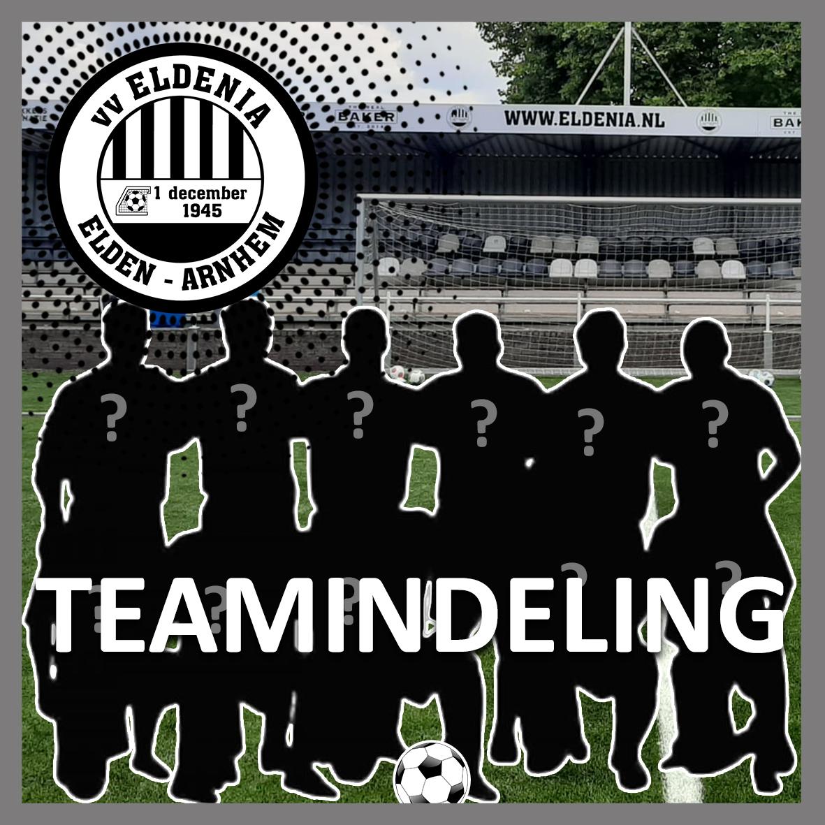 Nieuwe teamindelingen seizoen 2021-2022