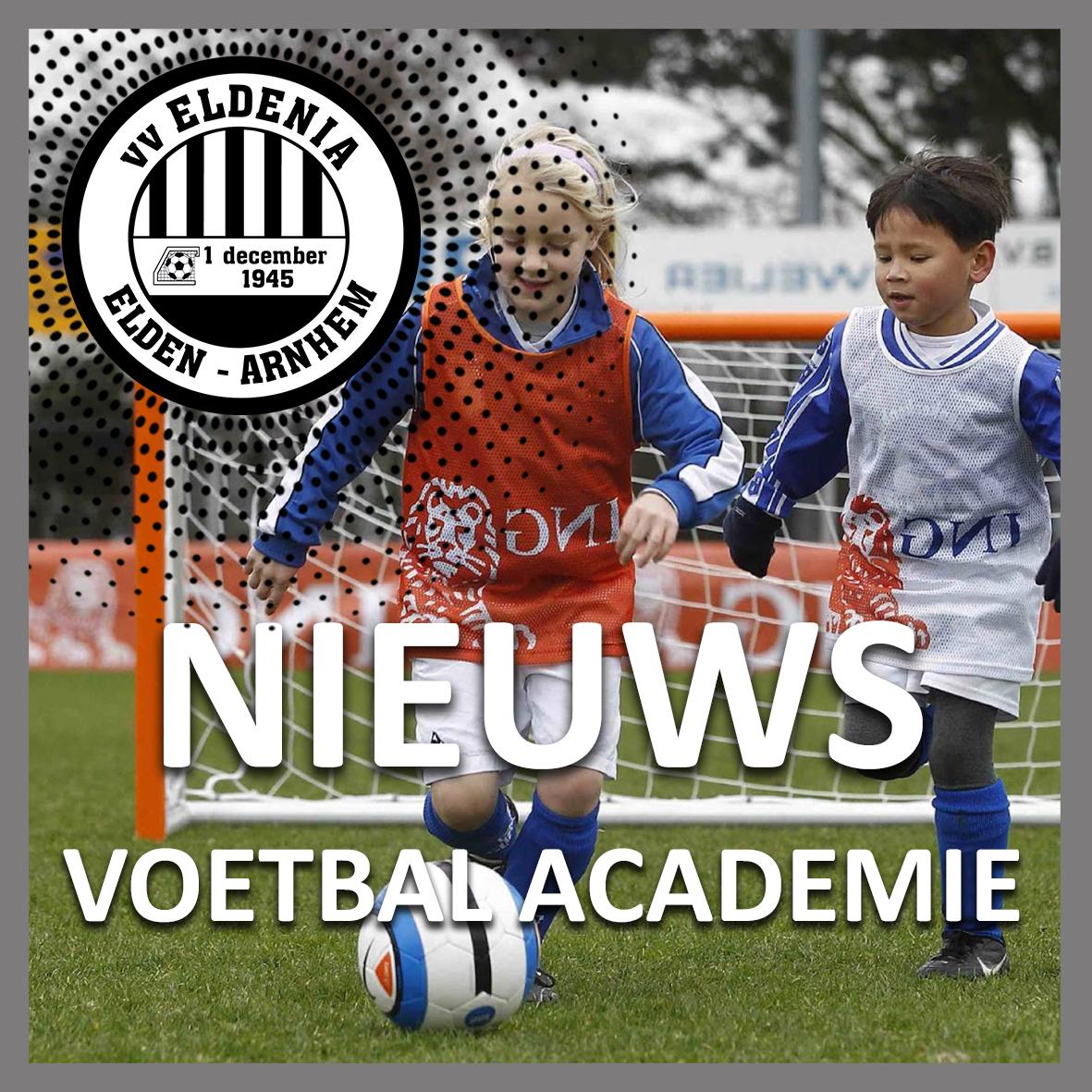 Nieuwe aanvangstijden Eldenia voetbalacademie