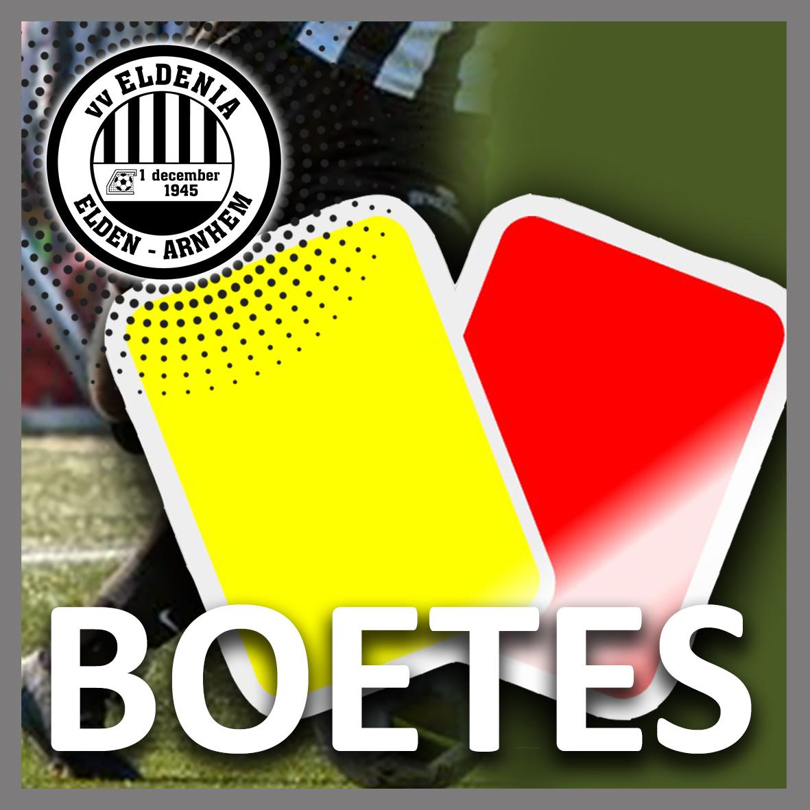 Boetes rode & gele kaarten